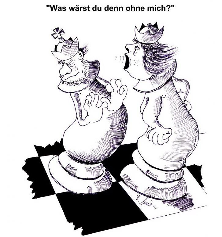 Karikatur von Rudi Sauer